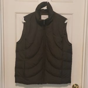 Chocolate brown 9 West puffer vest